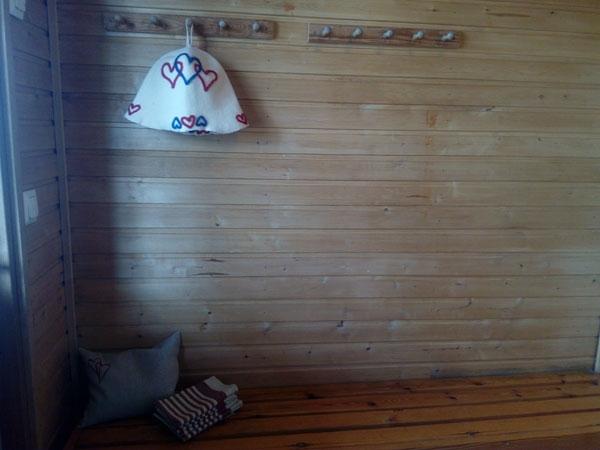 Jukka-mökki saunan pukuhuone, Sorjosen lomamökit Sulkava